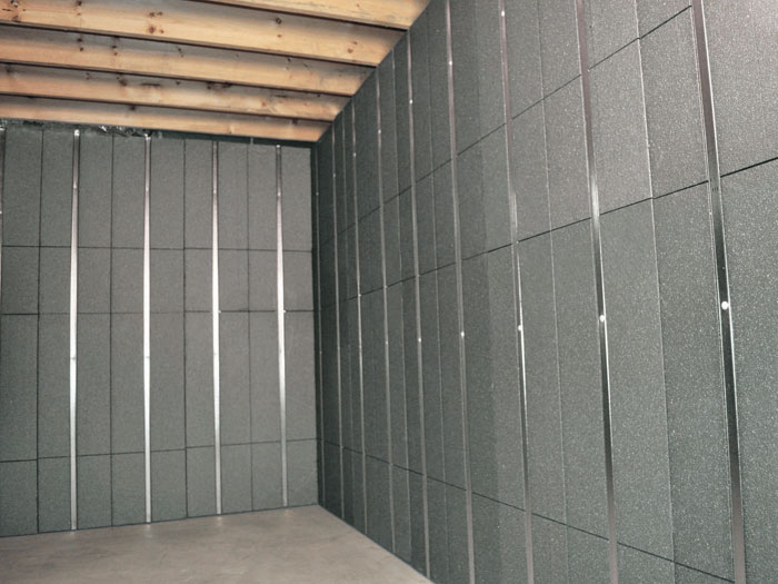 Finished Basement Walls. SilverGlo  insulation and metal studs making up our Basement to Beautiful panels Installed To Insulated Wall Panels Inorganic