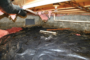 Crawl Space Repair Before in Duluth