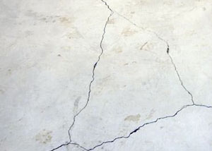 cracks in a slab floor consistent with slab heave in Sartell.
