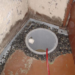 Installing a sump in a sump pump liner in a Superior home