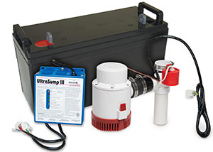 a battery backup sump pump system in Cloquet